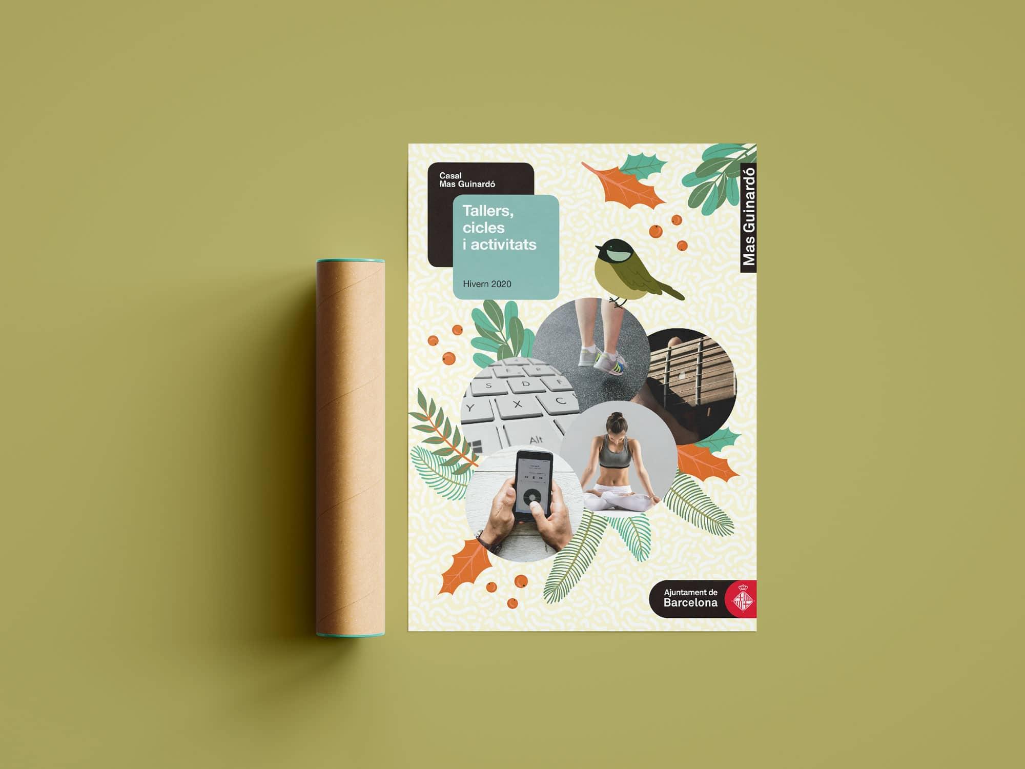 Cartel talleres Mas Guinardó - Impresión Badalona