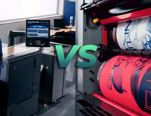 ¿Diferencias entre impresión digital e impresión offset?